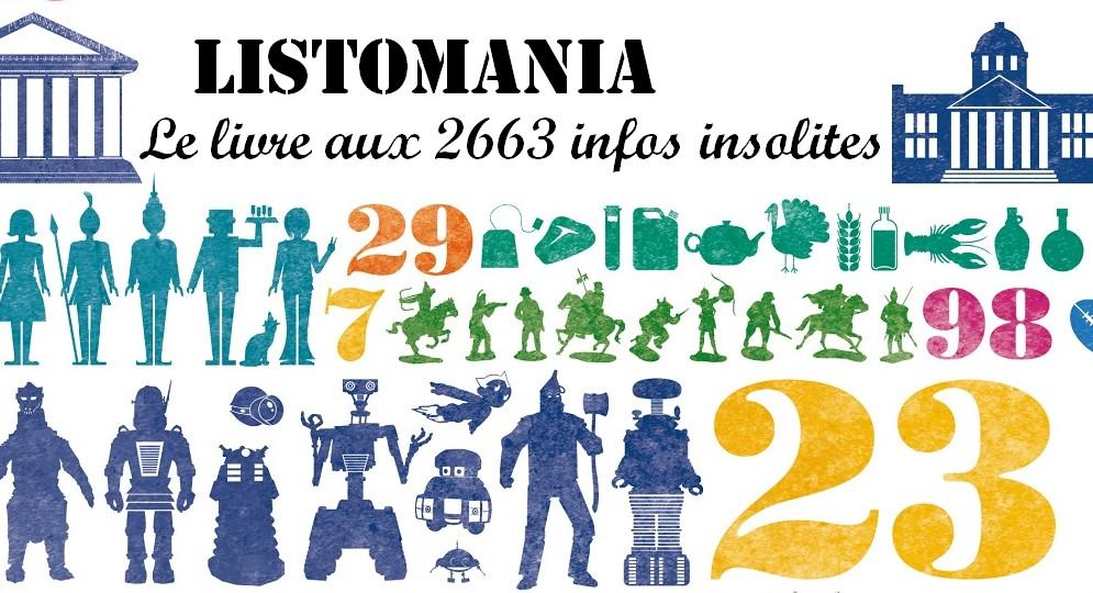 Listomania : 2663 infos utiles … et inutiles !