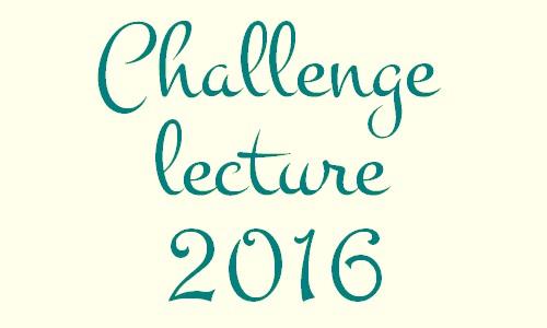 Création d'un challenge lecture 2016